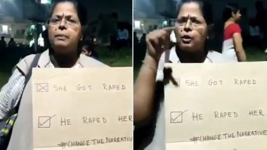Woman Protesting Hyderabad Rape and Murder Questions Society's Mindset, Says 'I Don't Want Man to Safeguard Me' (Watch Video)