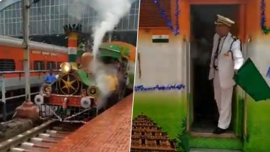 World's Oldest Working Locomotive EIR-21 Runs in Chennai, Watch Video of Tourists Enjoying The Joy Ride