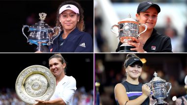 Year Ender 2019 in Tennis: Naomi Osaka, Ashleigh Barty, Simona Halep and Bianca Andreescu Leave Their Mark at Year's Grand Slams in Women's Singles