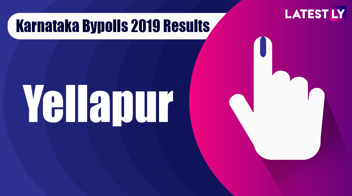 Yellapur Bypoll 2019 Result For Karnataka Assembly: Arabail Hebbar Shivaram of BJP Wins MLA Seat
