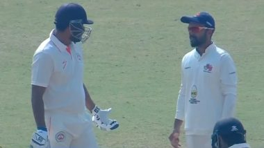 Yusuf Pathan Gets Angry After Umpire Adjudges Him Out During Ranji Trophy 2019–20 Baroda vs Mumbai Match, Refuses to Leave Crease (Watch Video)