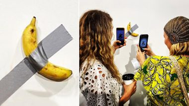 Duct-Taped Banana Artwork Titled 'Comedian' by Italian Artist Maurizio Cattelan Is Selling for $120K at Miami's Art Basel (View Pic)