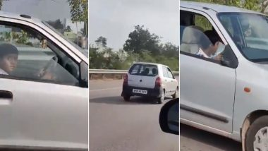 Hyderabad: 10-Year-Old Boy Seen Driving Car With Parents Sitting at The Back, Police Charge Just Rs 2000 After Video Goes Viral!