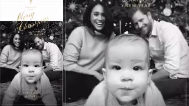 Christmas 2019: Make Way For The Very First Cute X'mas Card Featuring the Royal Family of Meghan Markle, Prince Harry and Baby Archie