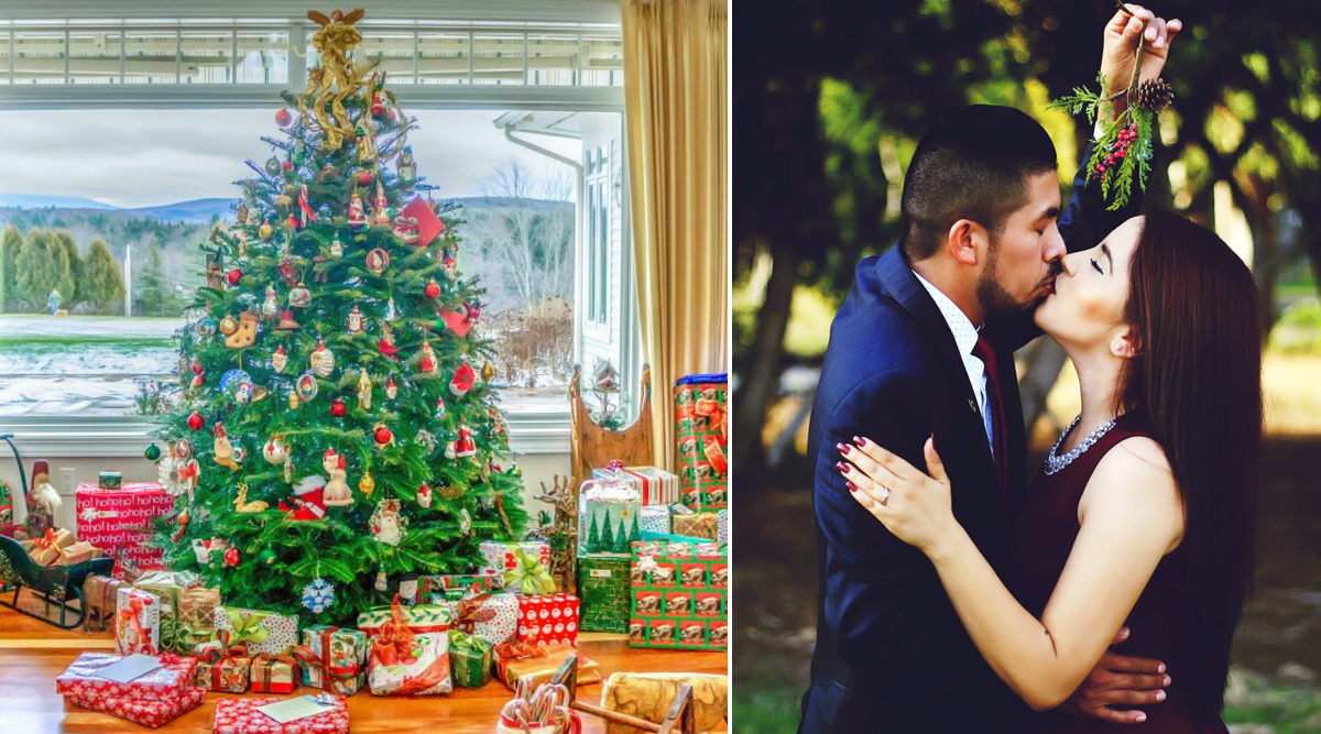 Christmas 2019 Special: 6 Cute and Romantic Ways to Propose Your Partner and Kiss Under the Mistletoe!