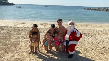 Cristiano Ronaldo Enjoys Christmas 2019 on the Beach With Girlfriend Georgina Rodriguez & Kids (See Pics)