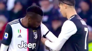 Cristiano Ronaldo Passes Captaincy Armband to Blaise Matuidi During Juventus vs Udinese, Serie A 2019-20; Impresses Netizens (Watch Video)
