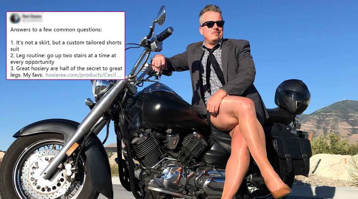 Cross-Dressing Man's Savage Response to Troll Who Posted Video of Him Wearing Shorts and Heels Goes Viral
