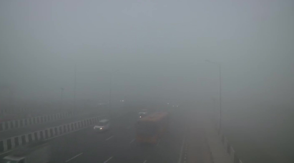Delhi Winter Photos & Videos: As Temperature Dips Further, Delhiites Experience Chilled Foggy Day