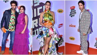 Nickelodeon Kids' Choice Awards 2019: Sara Ali Khan, Kartik Aaryan, Bhumi Pednekar, Varun Dhawan and Others Attend the Soiree (View Pics)