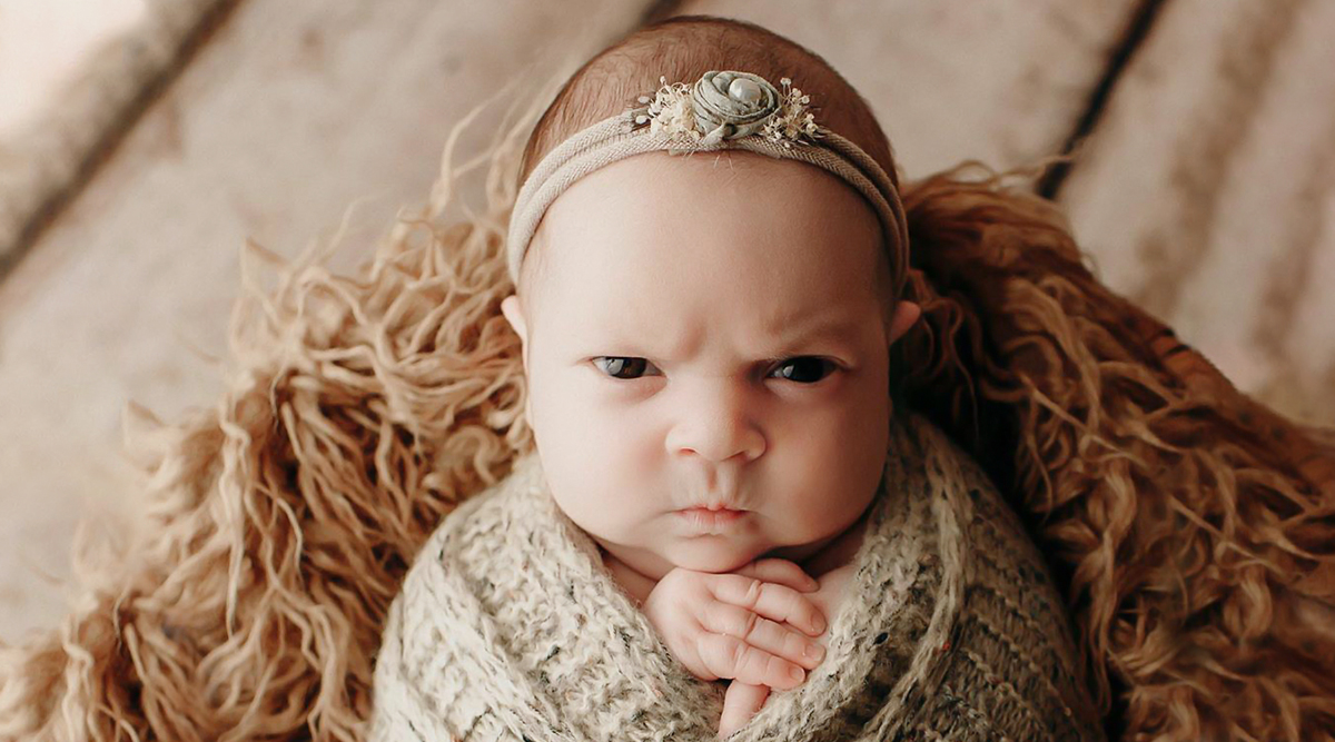 This Baby's Grumpy Face During Her Newborn Photoshoot Is Too Adorable to Miss! View Pics