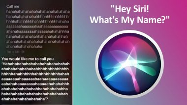 'Hey Siri, What's My Name?' iPhone Users Can't Stop Laughing at Virtual Assistant's Hilarious Responses (Check Tweets)