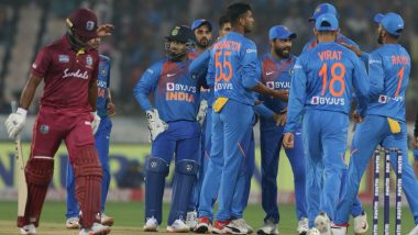 Live Cricket Streaming of India vs West Indies 2nd T20I Match on DD Sports, Hotstar and Star Sports: Check Live Cricket Score, Watch Free Telecast of IND vs WI 2019 Series on TV and Online