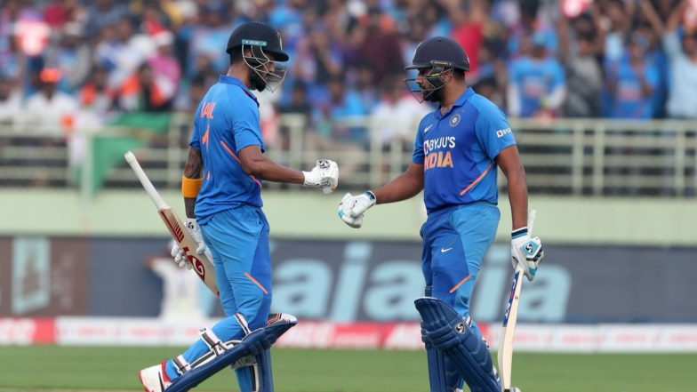 Rohit Sharma, KL Rahul Put Up Century Stand in India vs West Indies 3rd ODI 2019; Twitterati Hail the Openers