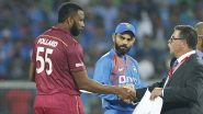 WI 148/6 in 16 Overs | (Target 241) | India vs West Indies Live Cricket Score 3rd T20I 2019 Match: Bhuvneshwar Kumar Removes Pollard