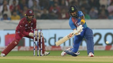 WI 26/0 in 5 Overs (Target 171) | India vs West Indies Live Cricket Score of 2nd T20I 2019 Match: Washington Sundar Drops Lendl Simmons