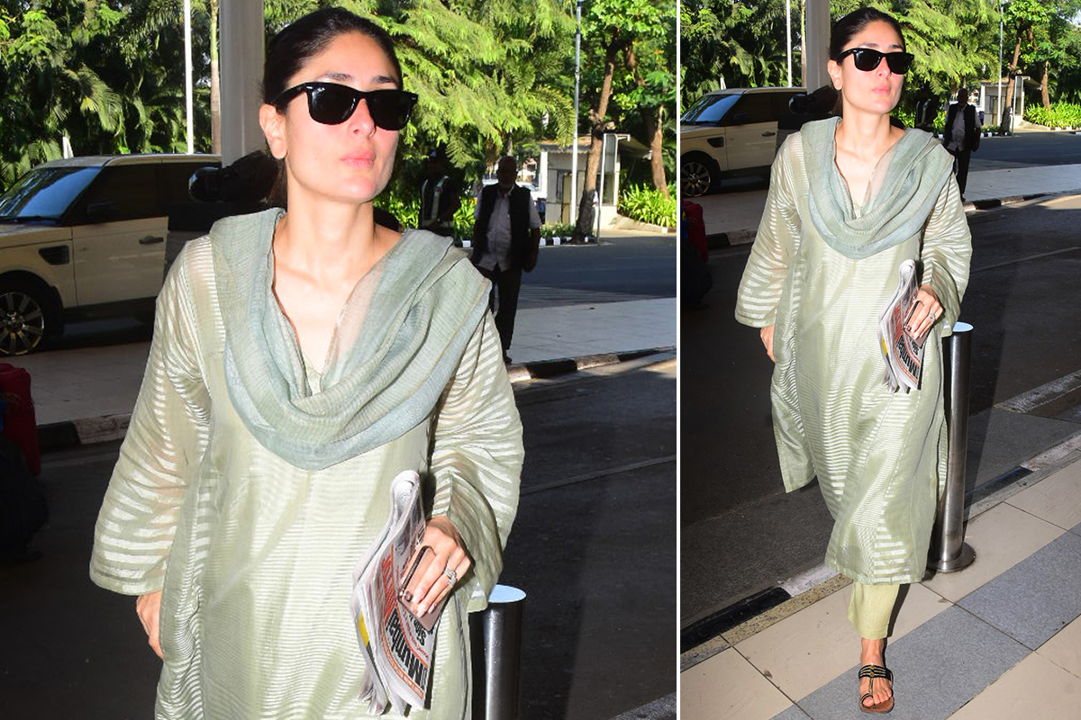 Kareena Kapoor Khan at the airport