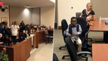 Michigan Boy Invites Entire Kindergarten Class to His Adoption Hearing, Pics and Videos Will Melt Your Heart!