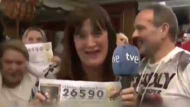 Spanish TV Reporter Quits Her Job Live on Air After Winning Lottery, Apologises After Realising That She Only Won a Small Amount (Watch Video)