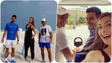 Maria Sharapova Goes Golfing With Rafael Nadal and Novak Djokovic in Abu Dhabi (See Pics)