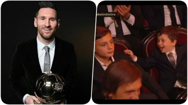 Mateo Messi's Cute Reaction to Lionel Messi Winning Ballon d'Or 2019, Wins the Day (Watch Video)