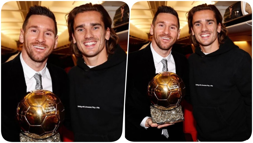 Lionel Messi Poses With Antoine Griezmann After Winning Ballon d'Or 2019, Squashes Rumours of Rift Between the two (See Pic)