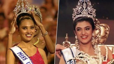Miss Universe 2019: Ahead of Vartika Singh's Participation in the 68th Edition, Here's a Look at Sushmita Sen and Lara Dutta's Crowning Moment (Watch Videos)