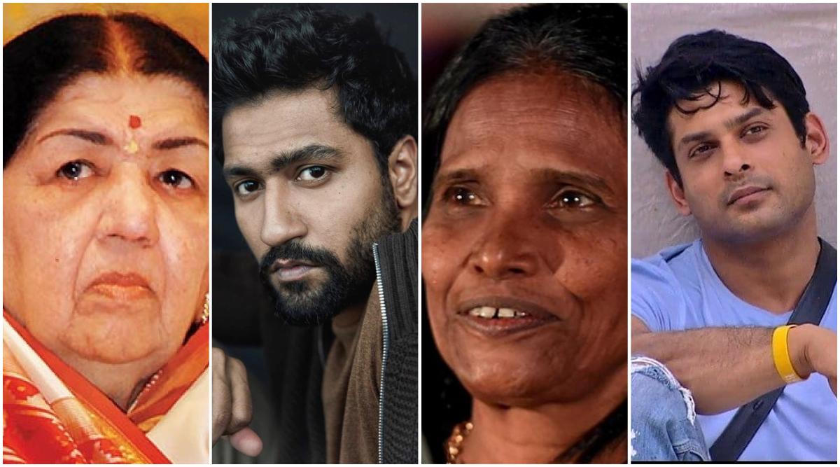 Lata Mangeshkar, Vicky Kaushal, Ranu Mondal, Siddharth ShuklaTop The Most-Searched Personalities Listin Google Year in Search 2019 India List