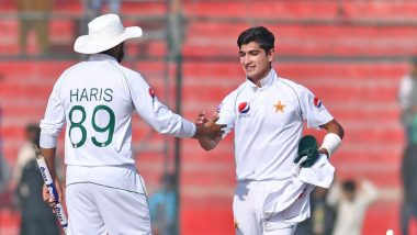 Naseem Shah Becomes Youngest Bowler to Take A Hat-Trick in Test Cricket, Achieves Feat Against Bangladesh; Watch Video
