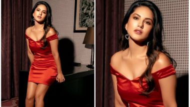 Sunny Leone Has A Naughty Christmas Wish For Her Fans, Posts Pic In A Red Hot Dress