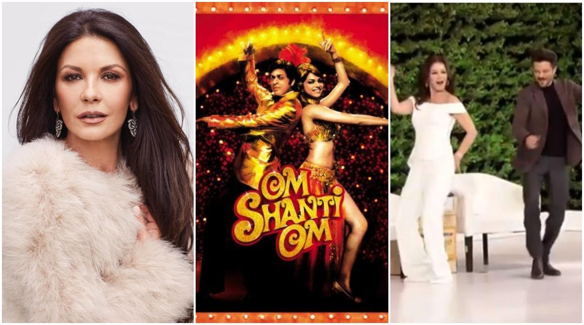 Catherine Zeta-Jones Admits She Is Obssessed with Shah Rukh Khan-Deepika Padukone's Om Shanti Om, Watch Her Groove with Anil Kapoor!