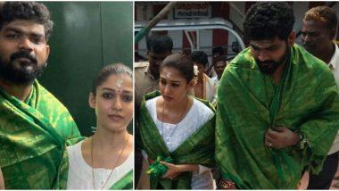Lovebirds Nayanthara and Vignesh Shivan Spotted Visiting Temples in Kanyakumari (View Pics)