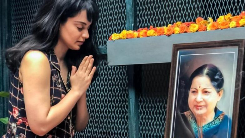 Jayalalithaa Death Anniversary: Kangana Ranaut Pays Tribute to Late Chief Minister of Tamil Nadu