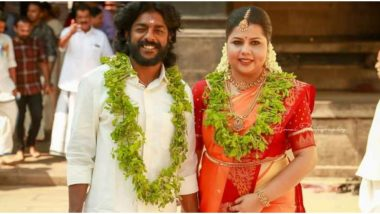 Marimayam Actors Sneha and SP Sreekumar Tie the Knot at Sree Poornathrayeesa Temple in Kochi