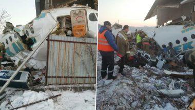 Kazakhstan Plane Crash: Bek Air Plane With 100 People on Board Crashes in Almaty, 12 Dead