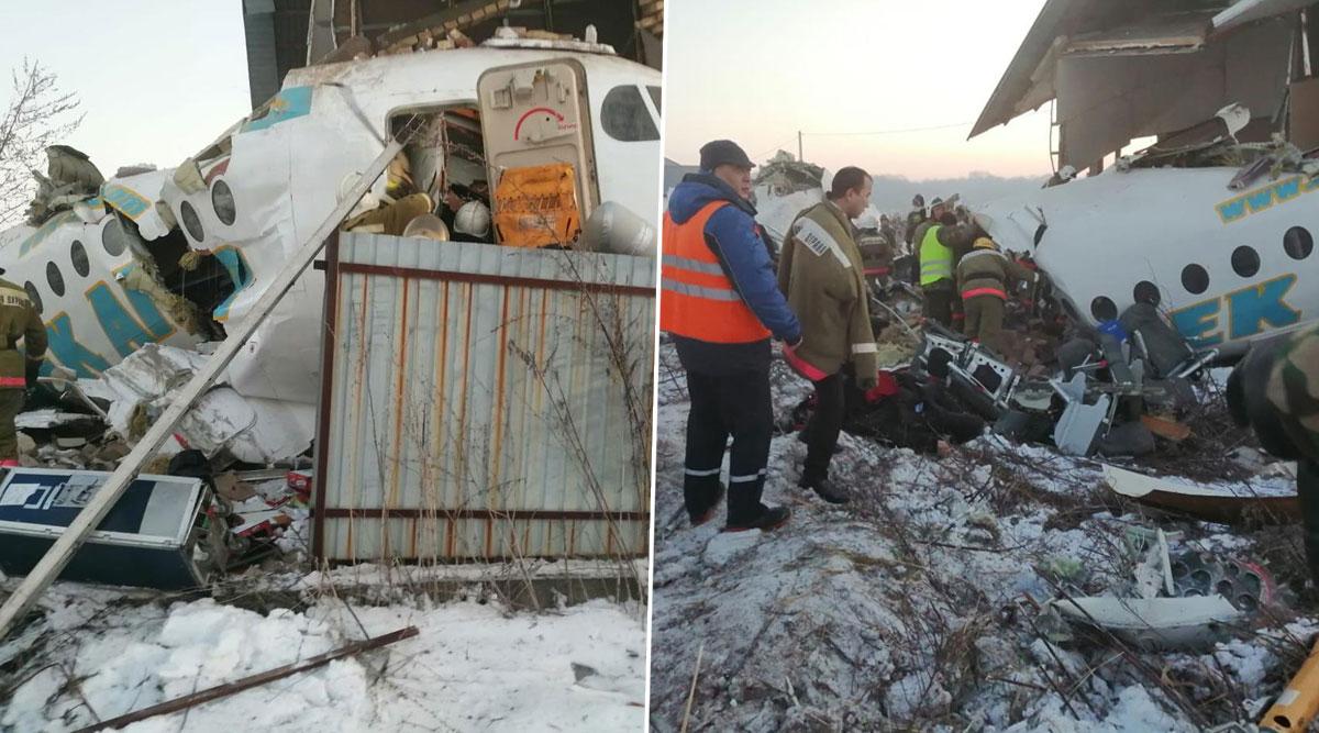 Kazakhstan Plane Crash: 12 Killed as Bek Air Plane Crashes Near Almaty Airport