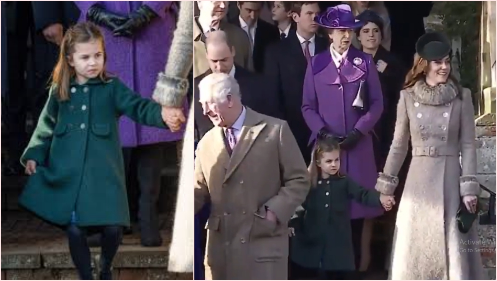 Princess Charlotte Shyly Copies Mom Kate Middleton to Give Her Curtsy to Queen Elizabeth II at Sandringham, Royal Fans Are Gushing Over the Adorable Video