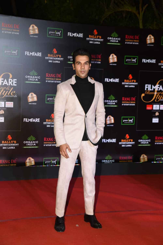Rajkummar Rao at Filmfare Glamour and Style Awards 2019
