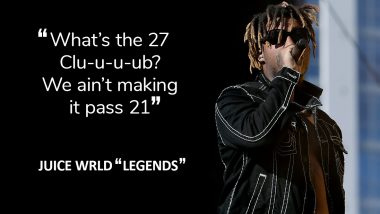 Juice Wrld Predicted His Own Death? Fans Recall 'We Ain't Making It Past 21' Lyrics From American Rapper's Famous Song 'Legends'