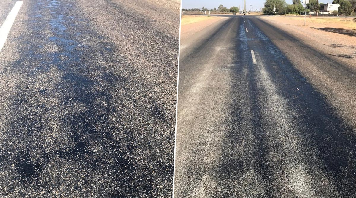 It's So Hot in Australia That Roads Are Melting! Port Augusta City Council Shares Pics of Streets Soften Under the Sun