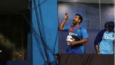 Rohit Sharma's Playful Gesture for Baby Samaira During IND vs WI 3rd T20I 2019 Is Too Cute, Mumbai Indians Share the Adorable Video