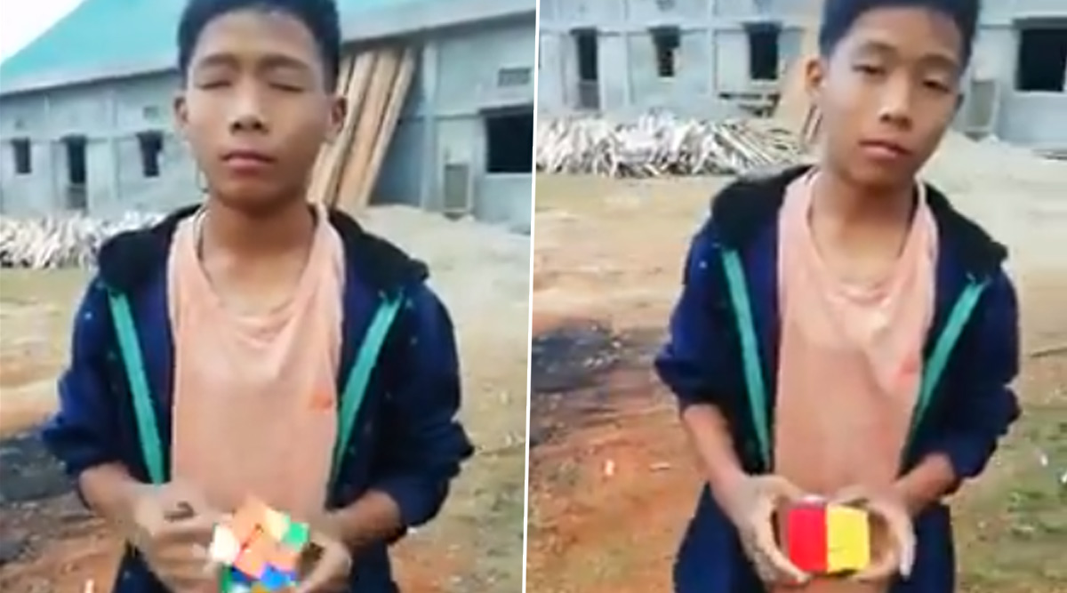 Arunachal Boy 'Blindly' Solves Rubik's Cube in Less Than a Minute! This Viral Video Will Blow Your Mind