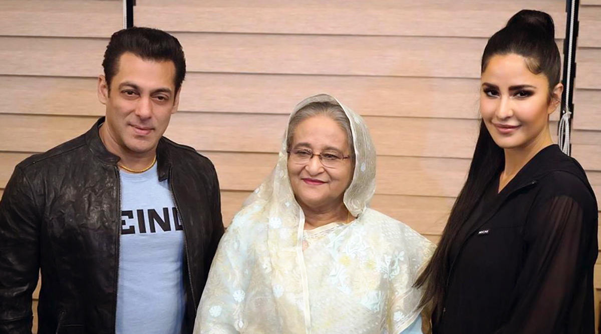 Salman Khan, Katrina Kaif Pose Along with Bangladesh PM Sheikh Hasina During the Opening Ceremony of BPL T20 2019