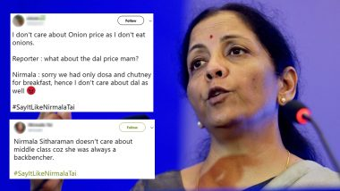 #SayItLikeNirmalaTai Funny Memes and Jokes Take Over Twitter Again After Finance Minister Says 'She Doesn't Eat Onions and Garlic' Amid Onion Price Hike
