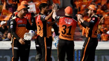 SRH vs RCB, IPL 2020: Sunrisers Hyderabad Likely Playing XI vs Royal Challengers Bangalore for Indian Premier League Match 3