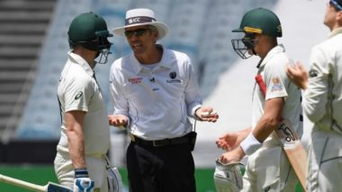 Steve Smith Confronts Umpire Nigel Llong After Being Denied a Couple of Byes During AUS vs NZ, 2nd Test 2019, Shane Warne Says, 'Send Law Book to Umpires' (Watch Video)
