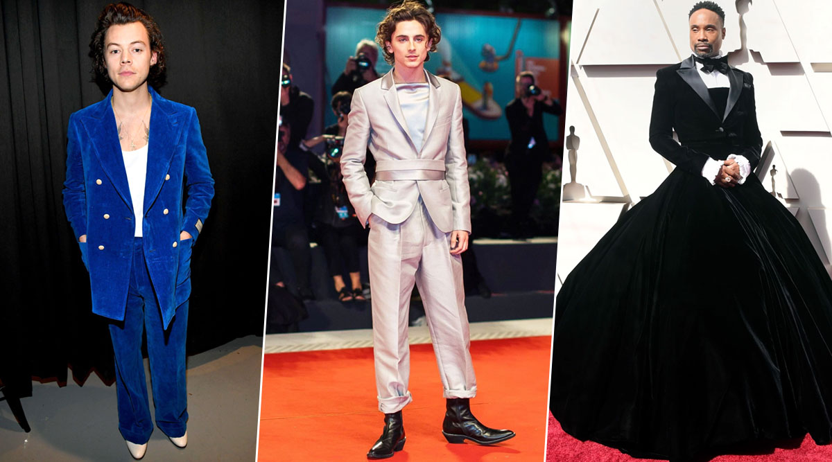 Year Ender 2019: Harry Styles, Timothée Chalamet, Billy Porter Ditched Conventional Looks to Become Hollywood's Best Dressed Men (See Pics)