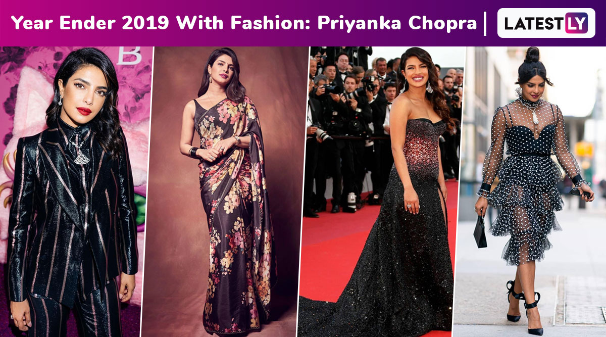 Year Ender 2019 With Fashion: Priyanka Chopra's Chic Style From Sarees to Suits Was Irresistibly Good!