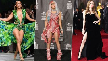 Decade Ender: From Jennifer Lopez's Jungle Dress Return, Lady Gaga's Meat Dress to Angelina Jolie's Famed Right Leg Pose - Here are the Biggest Fashion Moments (See Pics)