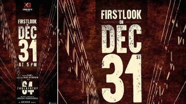 Thalapathy 64 First Look: Vijay Starrer to Be Unveiled on December 31, 2019